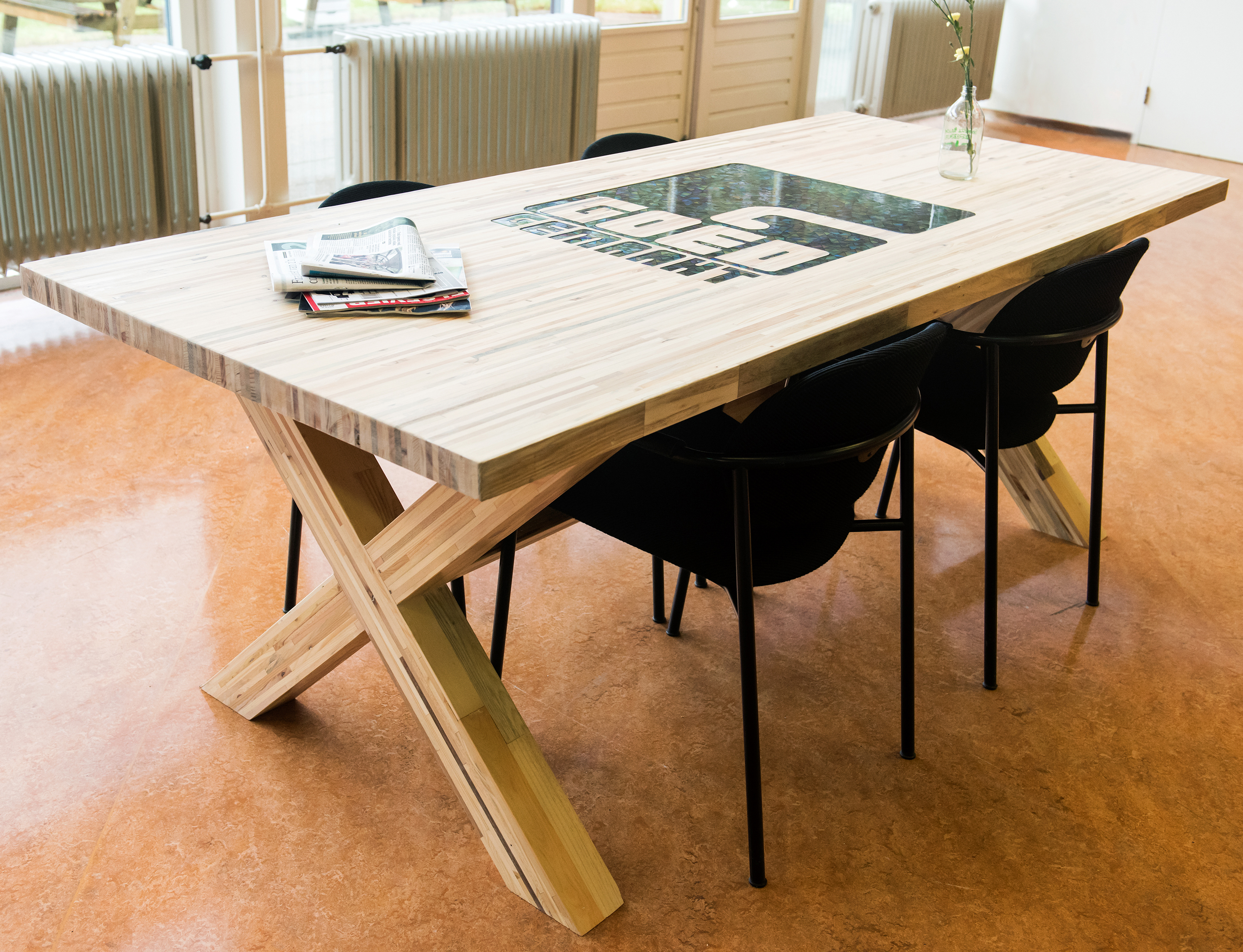 tafel gerecycled hout