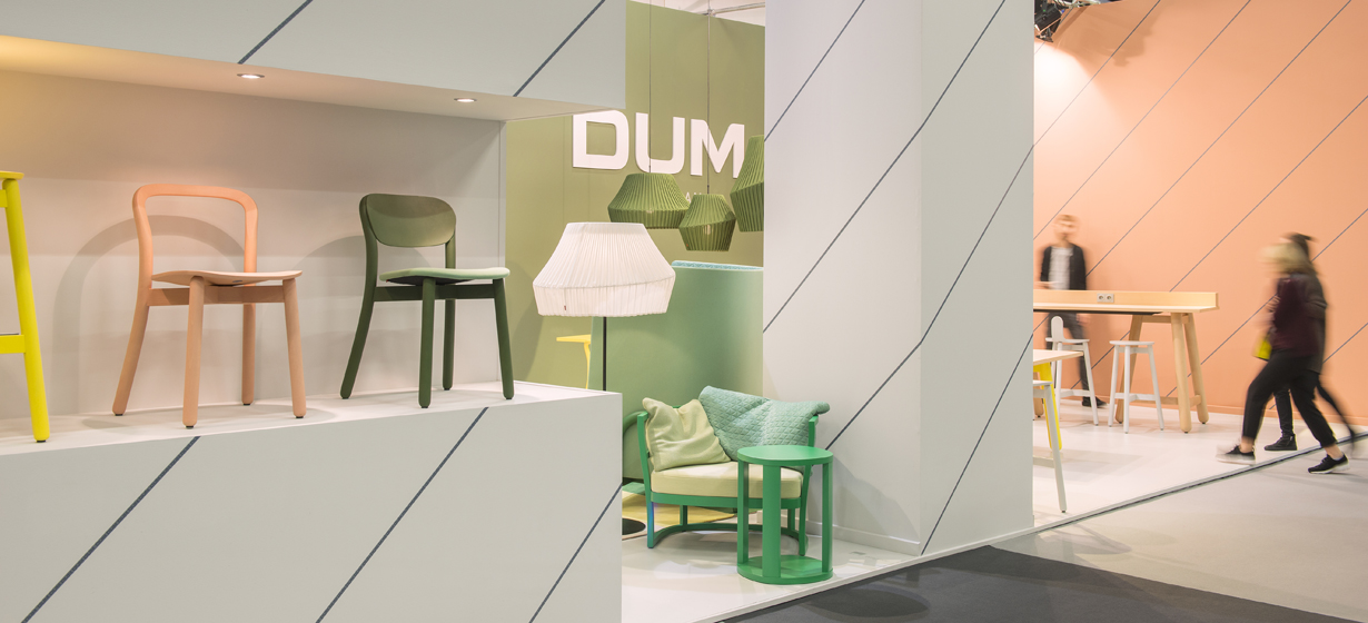 DUM Beech Chair Connect Office hout