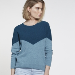 Image for Chevron Sweater – Petrol/Seagreen