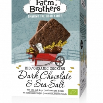 Organic Dark chocolate & Sea salt cookies