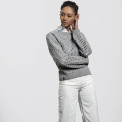 Waterfront Sweater – Light Grey