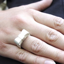 Image for Strik ring Bow in zilver